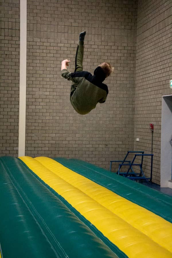 frontflip freerun flexbeweging